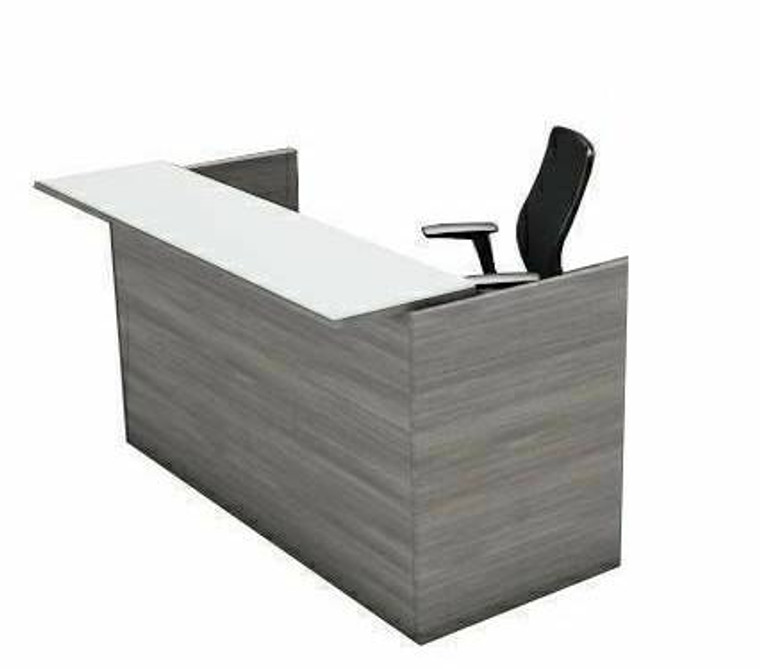 AM-Series Reception Desk Shell with Glass Counter