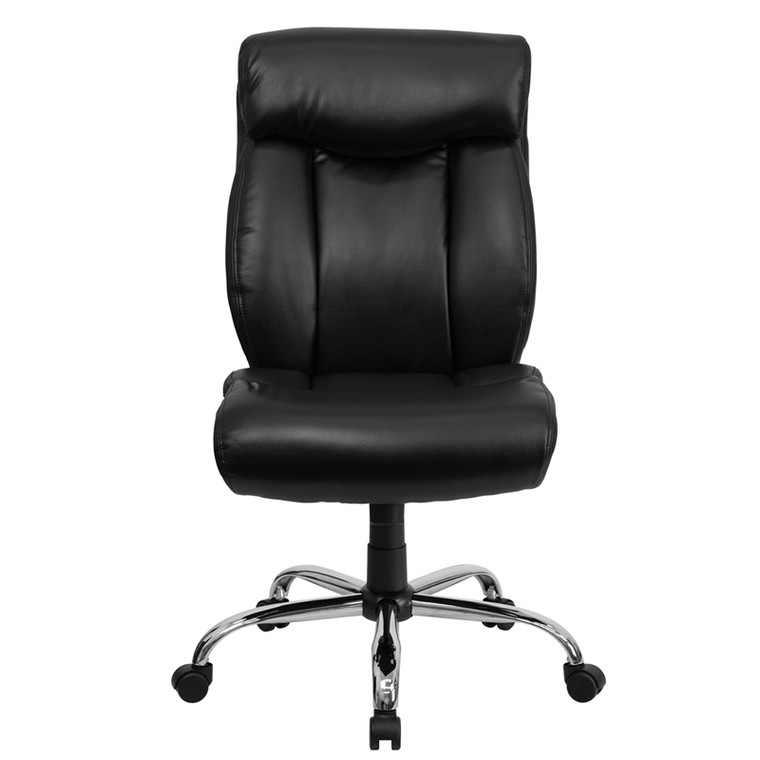 Big & Tall 400 lb. Rated Black Leather Executive Swivel Chair