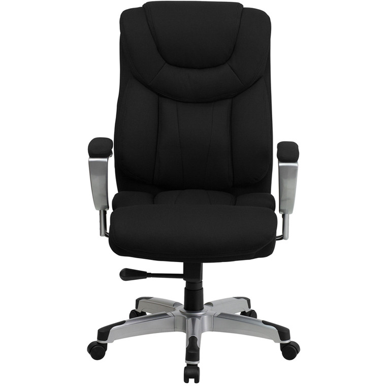 Series Big & Tall 400 lb. Rated Black Fabric Executive Swivel Chair with Adjustable Arms [DXGOi1534iBKiFAB]