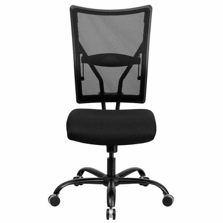 Big & Tall 400 lb. Rated Black Mesh Executive Swivel Chair