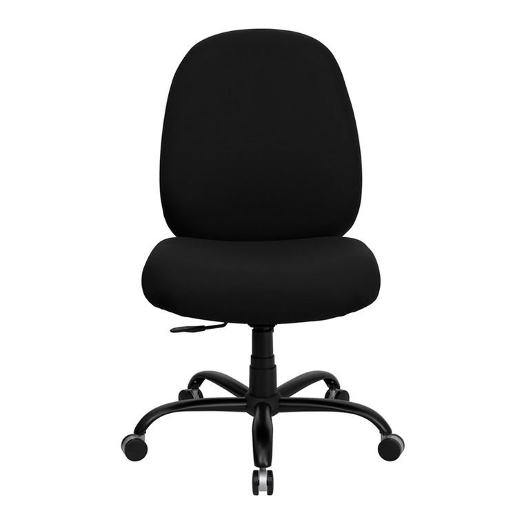 Series Big & Tall 400 lb. Rated Black Fabric Executive Swivel Chair [DXWLi715MGiBK]