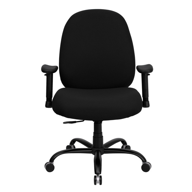 Series Big & Tall 400 lb. Rated Black Fabric Executive Swivel Chair with Adjustable Arms [DXWLi715MGiBKiA]