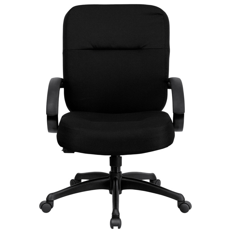 Big & Tall 400 lb. Rated Black Fabric Executive Swivel Chair with Arms