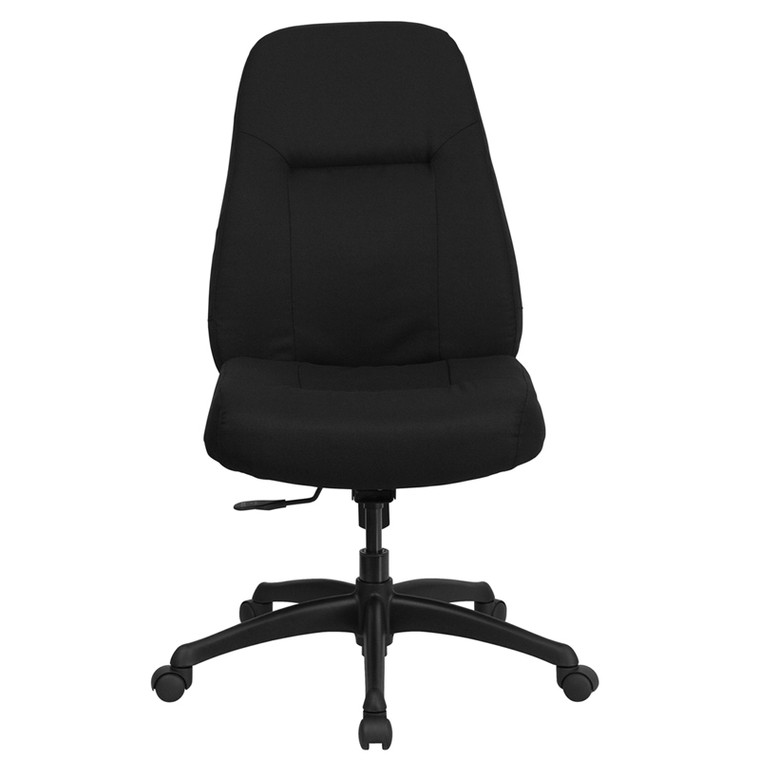 400 lb. Rated High Back Big & Tall Black Fabric Executive Swivel Chair