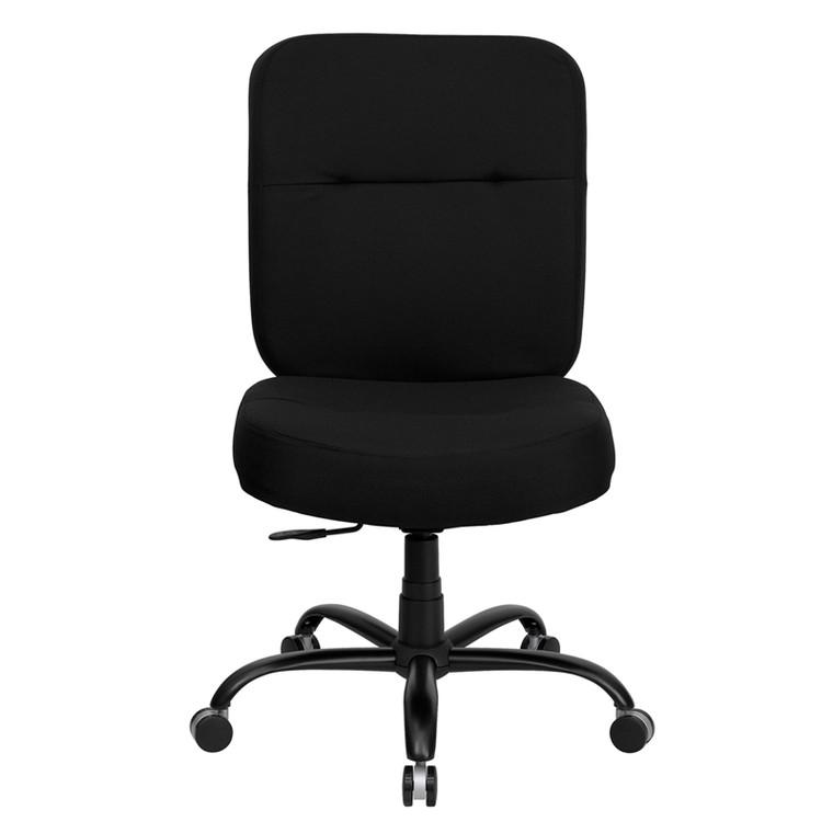 Series Big & Tall 400 lb. Rated Black Fabric Executive Swivel Chair [DXWLi735SYGiBK]