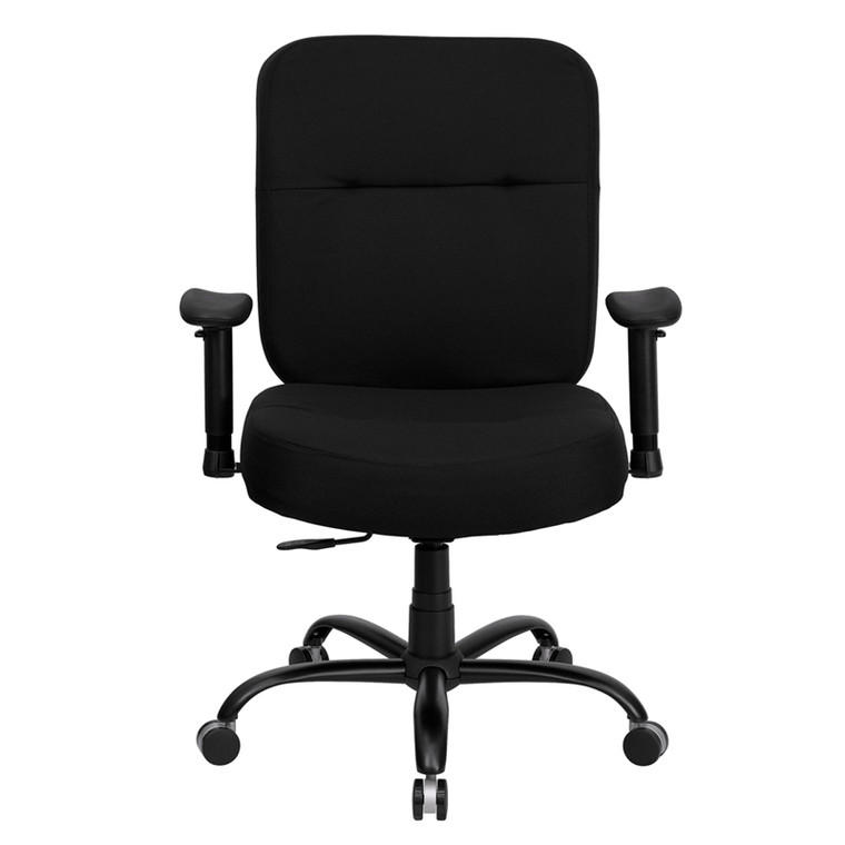 Series Big & Tall 400 lb. Rated Black Fabric Executive Swivel Chair with Adjustable Arms [DXWLi735SYGiBKiA]