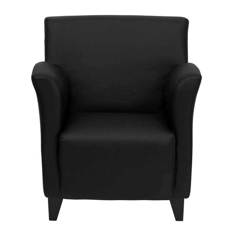 Roman Series Black Leather Lounge Chair [DXZBiROMANiBLACK]