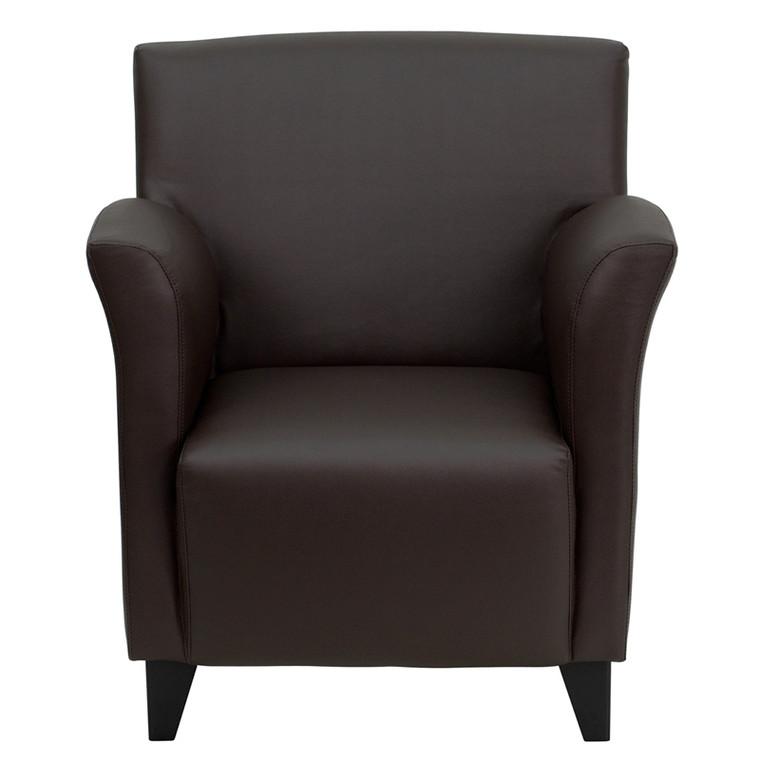 Roman Series Brown Leather Lounge Chair [DXZBiROMANiBROWN]