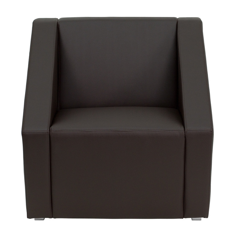 Smart Series Brown Leather Lounge Chair [DXZBiSMARTiBROWN]