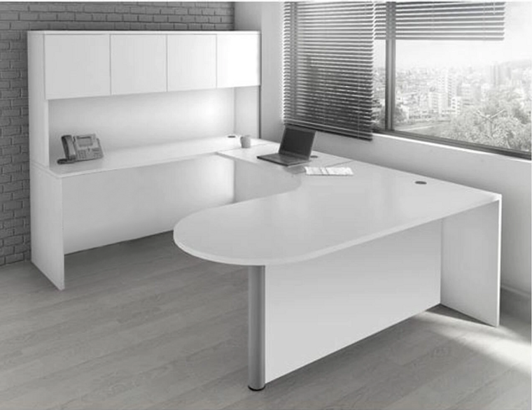 OSL-Series Bullet Executive U-Shape Desk Shell with Hutch (No Drawers)