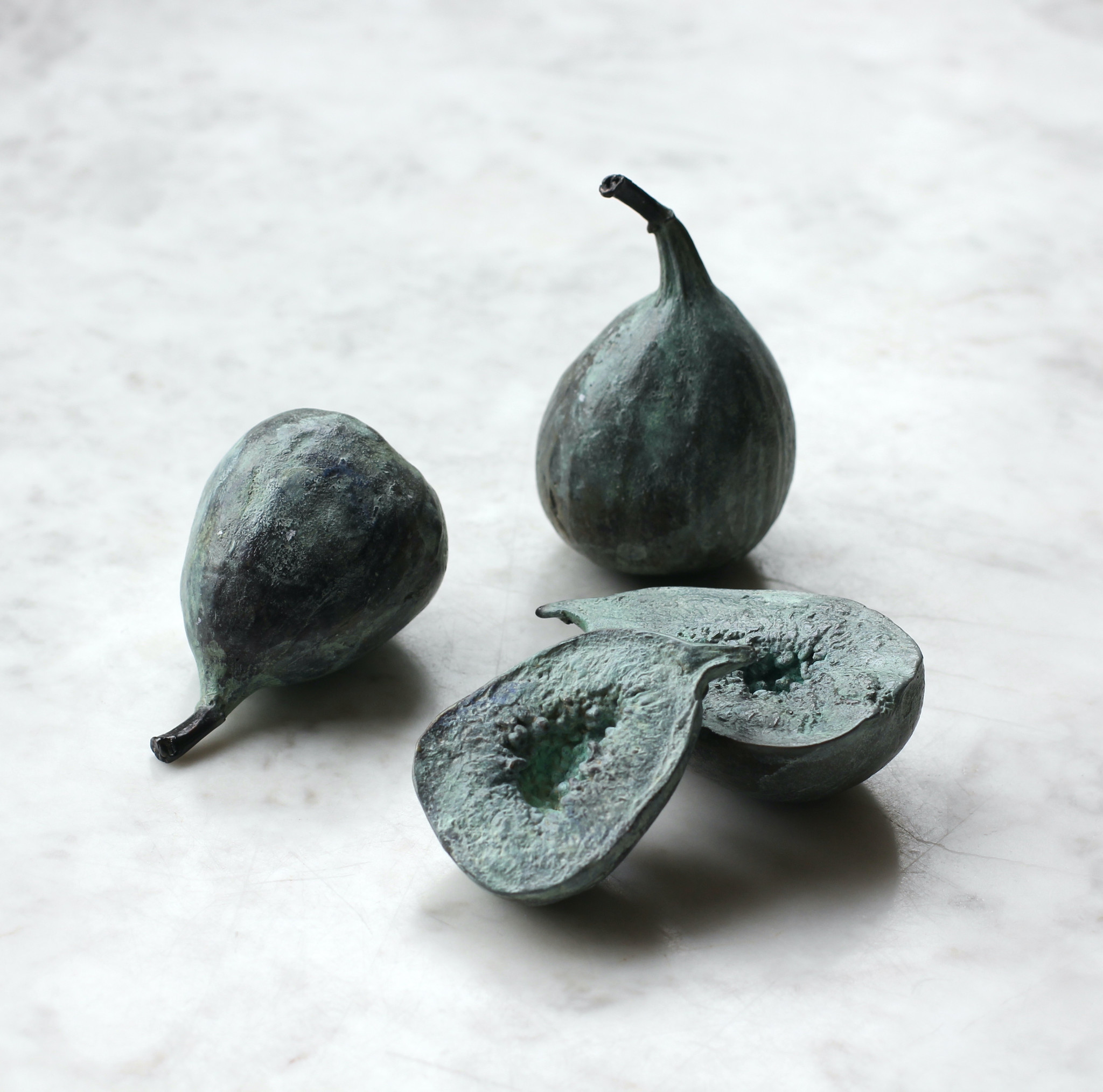 Pomarius collection, bronze, fig, lost wax, object, curiosity, botanical