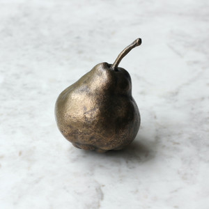 Pomarius collection, bronze, pear, lost wax, object, curiosity, botanical