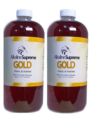 2-Pak Supreme Gold - 3RD EYE / PINEAL GLAND ACTIVATION (16OZ)