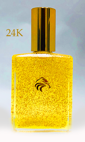 RIZAAN KEMETIC BODY RUB + 24K  Gold - BY NAAZIR RA (1OZ)