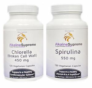 Super Green Pack - Chlorella + Spirulina  (IMMUNE SUPPORT)