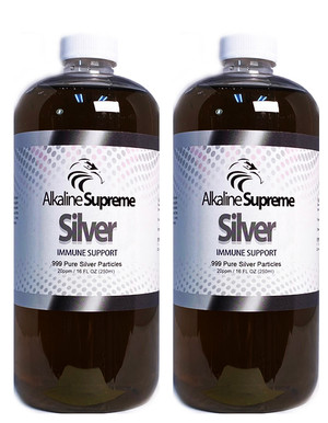 2-PAK SUPREME SILVER - NATURAL ANTIVIRAL DETOX (16oz)