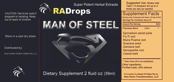 MAN OF STEEL -  Super Potent Herbal Stamina Drops (2oz)