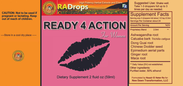 READY 4 ACTION  -  Super Potent Herbal Drops (2oz)