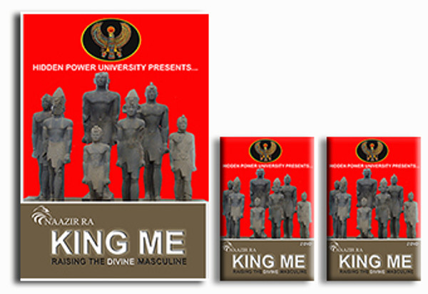 KING ME - Home Study Course (FOR MEN) Raise the Divine Masculine and Reclaim your POWER, PURPOSE & POSITION!  WHAT YOU GET:  1. Fully Illustrated Action Guide 2. Two DVD's (About 3hrs running time)