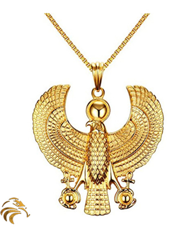 HERU ASCENSION MEDALLION - 18K Gold plated - Blessed by Naazir Ra
