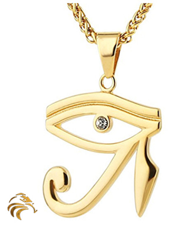 """EYE of HERU """"Evil Eye Protection"""" - 18K Gold Plated - Blessed by Naazir Ra"""