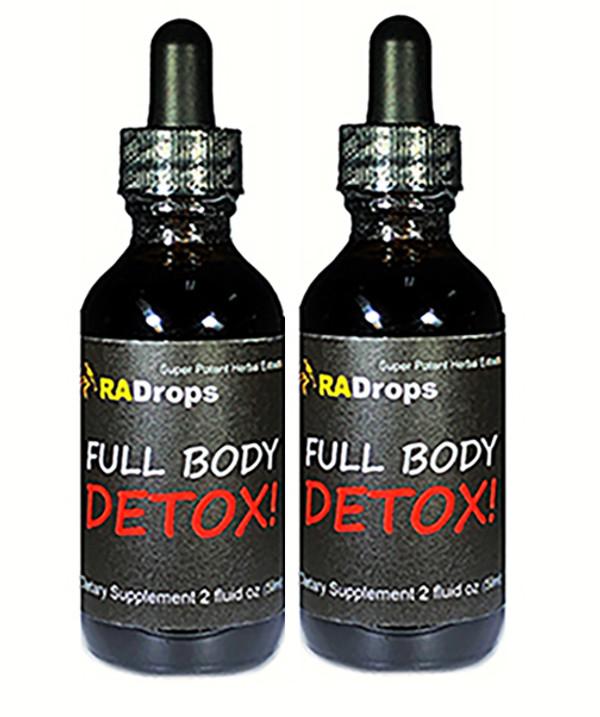 2-PAK FULL BODY DETOX DROPS - LIVER, KIDNEY, SPLEEN, COLON DETOX (2oz)