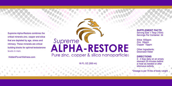 2-PAK ALPHA RESTORE WITH ZINC! IMMUNITY, ENERGY & RECOVERY (16oz)