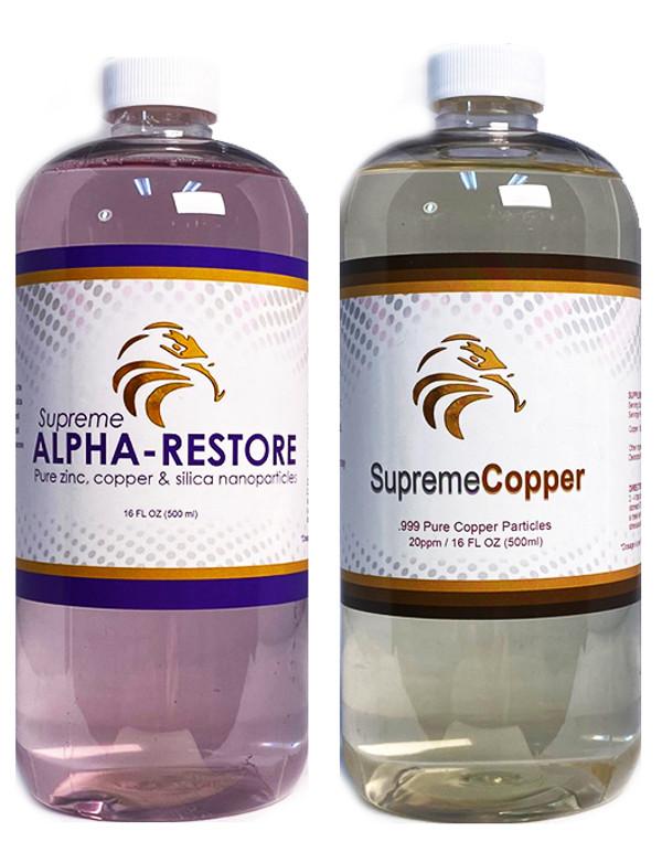Supreme Restoration Pack (Copper + Alpha-Restore) Immunity & Stamina (16oz)
