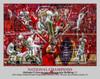 Alabama 2018 National Champions Crimson Roll Tide 2 College Football Art 8x10-48x36