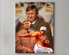 Johnny Majors Coach Tennessee Vols NCAA College Football 2520 Art Print 8x10-48x36 canvas frame gallery wrapped