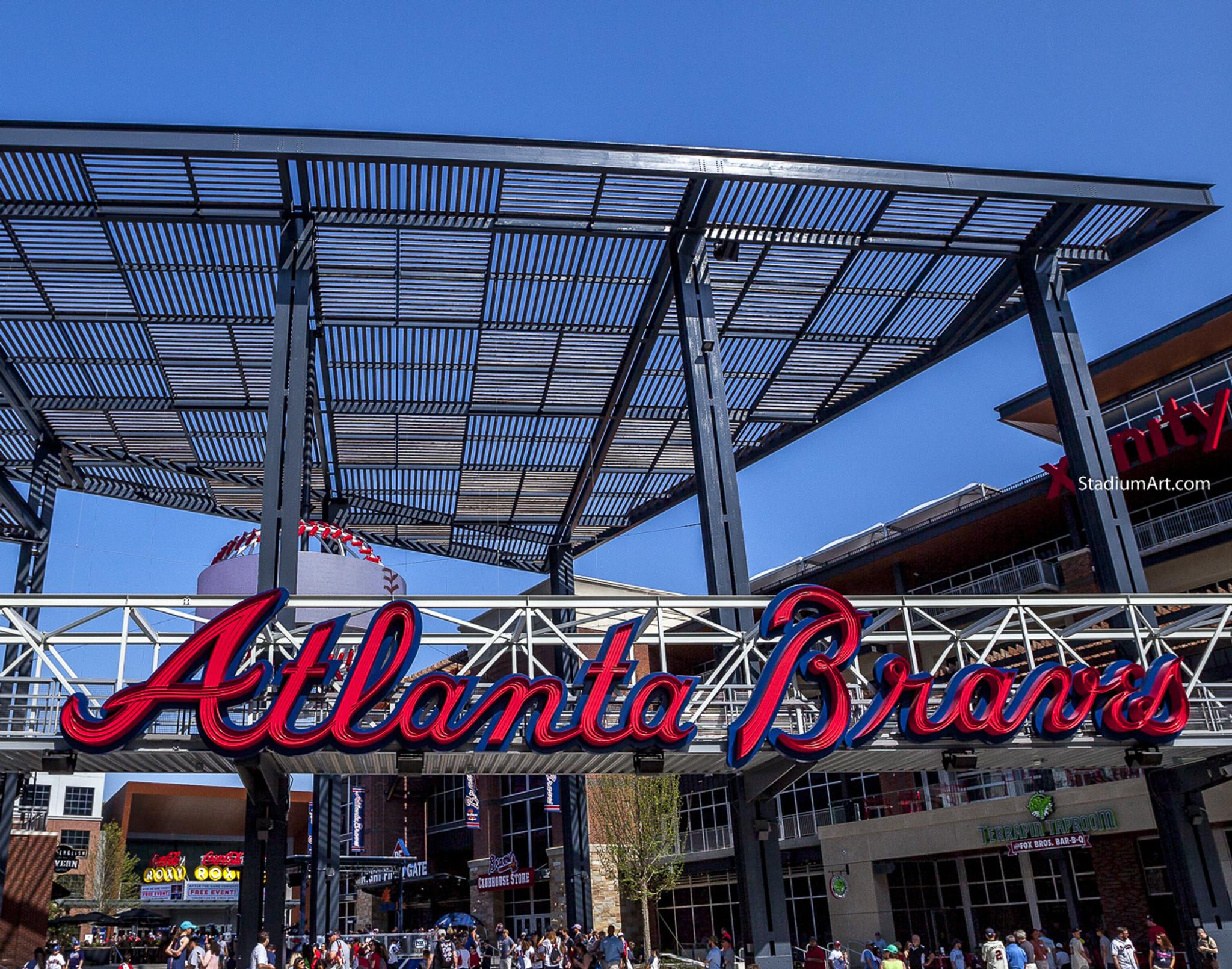 timeless design ae832 30a2d Atlanta Braves SunTrust Park New Baseball Stadium 49 MLB 8x10-48x36 CHOICES