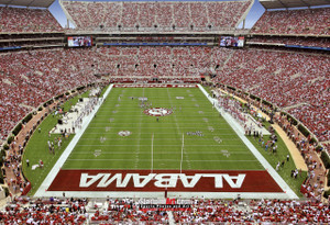 Bryant-Denny Stadium, home of Alabama Crimson Tide13x19 or 24x36 photo