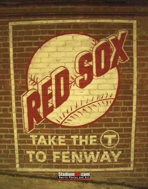 Boston Red Sox Fenway Park Wall Sign MLB Baseball Photo 100 8x10-48x36