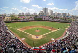 Chicago Cubs Wrigley Field MLB Baseball Photo 02 8x10-48x36