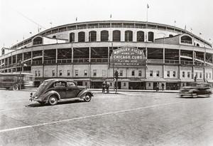 Chicago Cubs Wrigley Field Old MLB Baseball Photo 50 8x10-48x36