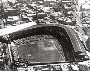 Chicago Cubs Wrigley Field Old MLB Baseball Photo 54 8x10-48x36