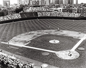 Chicago Cubs Wrigley Field Old MLB Baseball Photo 55 8x10-48x36