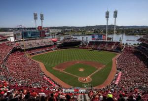 Cincinnati Reds Great American Ball Park Ballpark MLB Baseball Stadium Photo 02 8x10-48x36
