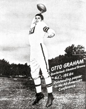 Cleveland Browns Otto Graham Football Photo Print 03 8x10-48x36
