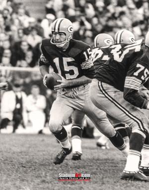 Green Bay Packers Bart Starr Football 8x10-48x36 Photo Print 55