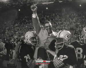 Green Bay Packers Vince Lombardi Football 8x10-48x36 Photo Print 55