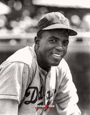 Los Angeles Dodgers Jackie Robinson LA Brooklyn Photo Art Print 8x10 or 11x14 or 40x30 StadiumArt.com Sports Photos