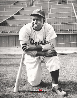 Los Angeles Dodgers Jackie Robinson LA Brooklyn Photo Art Print 8x10 or 11x14 or 40x30 StadiumArt.com Sports Photos
