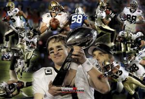 New Orleans Saints Super Bowl Champions NFL Football Photo Art Print 13x19 or 24x36 StadiumArt.com Sports Photos