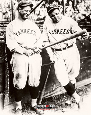 New York Yankees Babe Ruth Lou Gehrig NY Baseball Photo Art Print 8x10 or 11x14 or 40x30 StadiumArt.com Sports Photos