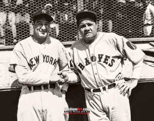 New York Yankees Babe Ruth with Lou Gehrig NY Baseball Photo Art Print 8x10 or 11x14 or 40x30 StadiumArt.com Sports Photos