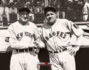 New York Yankees Babe Ruth with Lou Gehrig NY Baseball Photo Art Print 8x10 or 11x14 or 40x30 StadiumArt.com Sports Photos