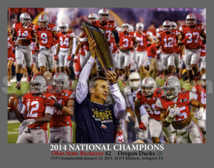 Ohio State Buckeyes National Champions 2014 NCAA College Football fine art print