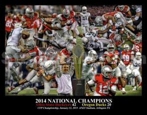 Ohio State Buckeyes National Champions 2014 NCAA College Football 8x10-48x36 Photo Print 04