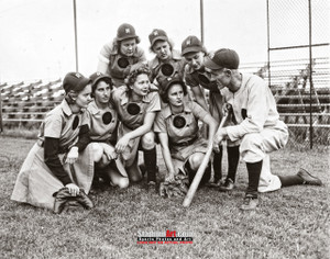 Rockford Peaches Women's Baseball League Photo Art Print 8x10 or 11x14 or 40x30 StadiumArt.com Sports Photos